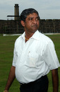 Jayananda Warnaweera inspects Galle International Stadium, April 29, 2005
