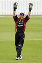 Peter McGlashan celebrates after taking a catch to get rid of Mohammad Ashraful,  Northern Districts v Bangladesh, Tour Match, Hamilton, December 16, 2007