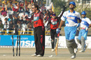 Craig McMillan appeals as Abbas Ali is caught short of his crease, Delhi Jets v Kolkata Tigers, 3rd Place Playoff, Indian Cricket League, Panchkula, December 16, 2007