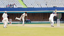 Debasis Mohanty in his follow through, Punjab v Orissa, Ranji Trophy Super League, Group A, 6th round, Chandigarh, 2nd day, December 18, 2007