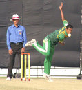 Delwar Hossain, who claimed figures of 5 for 34, in action, Rajshahi v Chittagong, Rajshahi, December 18, 2007