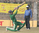 Shakil Haider powers the ball during his 95, Rajshahi v Chittagong, Rajshahi, December 18, 2007