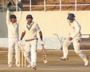 Mumbai's Vinayak Samant appeals for a leg-before against Paras Dogra