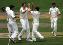 Allan Wise and his Victorian team-mates celebrate, Victoria v Indians, tour match, Melbourne, 1st day, December 20, 2007