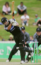 Adam Parore bats during a Twenty20 match, NZCPA Masters XI v New Zealand Under-19, Twenty20 match, Seddon Park, Hamilton, December 23, 2007