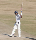 Hemant Dogra raises his bat after reaching his half-century, Himachal Pradesh v Rajashtan, Ranji Tropy Super League, Group A, 7th round, 1st day, Dharamsala, December 25, 2007