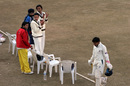Shubhanshu Vijay is applauded by his Rajasthan team-mates after his 88, Himachal Pradesh v Rajasthan, Ranji Trophy Super League, Group A, 7th round, 2nd day, Dharamsala, December 26, 2007