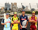 Daniel Smith, Luke Ronchi, Rob Quiney and Michael Buchanan line up to launch the Twenty20 Big Bash, MCG, December 27, 2007