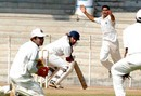 R Srinivasan looks back after edging one from Pradeep Sangwan, Tamil Nadu v Delhi, Ranji Trophy Super League, Group A, 7th round, 3rd day, Chennai,   December 27, 2007