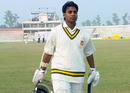 Golam Rahman returns to the pavilion after being dismissed for 45, Barisal v Sylhet, National Cricket League 9th round, 1st day, Bogra, December 27, 2007