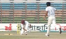 Anwar Hossain is cleaned up by Tareq Aziz, Chittagong v Dhaka, National Cricket League 9th round, 1st day, Chittagong, December 27, 2007
