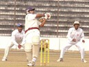 Rajshahi's Shakil Haider pulls during his 61, Rajshahi v Khulna, National Cricket League 9th round, 1st day, Rajshahi Stadium, December 27, 2007