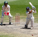 VVS Laxman drives through cover, Australia v India, 1st Test, Melbourne, 4th day, December 29, 2007