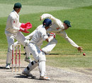 Sourav Ganguly edges past Michael Clarke at slip, Australia v India, 1st Test, Melbourne, 4th day, December 29, 2007
