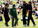 Team-mates congratulate Jacob Oram on dismissing Tushar Imran for one, New Zealand v Bangladesh, 3rd ODI, Queenstown, December 31, 2007