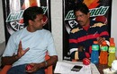 Javagal Srinath and TA Sekhar at the launch of the Gatorade Pacers 2008