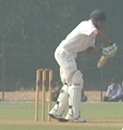 Ravikant Shukla prepares to defend the ball, Saurashtra v Uttar Pradesh, 2nd semi-final, Ranji Trophy Super League, Vadodara, 1st day, January 5, 2008
