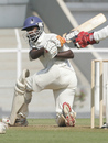 Railways' Harshad Rawle sweeps during his unbeaten 89, Gujarat v Railways, Ranji Trophy Plate League Final, Mumbai, 1st day, January 5, 2008