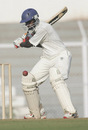 Harshad Rawle prepares to cut the ball, Gujarat v Railways, Ranji Trophy Plate League Final, Mumbai, 1st day, January 5, 2008