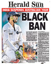 The lead story in the <I>The Herald Sun</I> as the row escalates, January 8, 2008