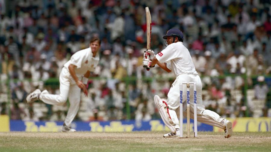 Sachin Tendulkar flicks Greg Blewett
