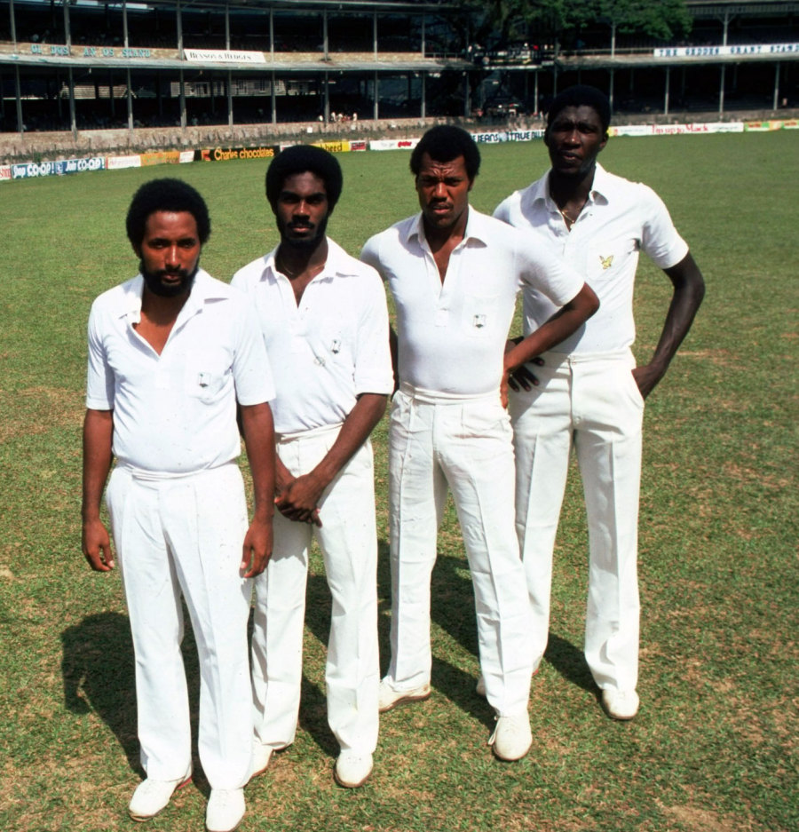 Roberts, Holding, Croft and Garner: striking fear in the hearts of batsmen through the 70s and 80s