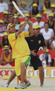Mark Waugh swings over midwicket on the beach, Beach Cricket Tri-Nations series, Maroubra Beach, Sydney, January 12, 2008