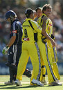 Aaron Heal is back-slapped after dismissing Aiden Blizzard, Western Australia v Victoria, KFC Twenty20 final, January 13, 2008