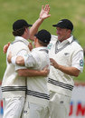 The New Zealanders celebrate another easy wicket, New Zealand v Bangladesh, 2nd Test, Wellington, 3rd day, January 14, 2008