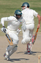 Timycen Maruma and Gary Brent pick up a single during their 86-run eighth-wicket stand, Patron's XI v Zimbabweans, Karachi, 4th day, January 17, 2008