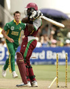 Brenton Parchment is bowled off a free hit, South Africa v West Indies, 3rd ODI, Port Elizabeth, January 27, 2008