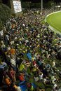 Fans pack the stands at the Stanford Cricket Ground , Cayman Islands v St Lucia, 2nd match, Stanford 20/20, Antigua, January 26, 2008
