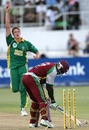 Rawl Lewis is cleaned up by Morne Morkel, 4th ODI, Durban, February 1, 2008