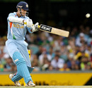 Irfan Pathan guides one through the off side, Australia v India, CB series, 1st ODI, Brisbane, February 3, 2008
