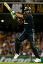 Adam Gilchrist gets room to cut the ball, Australia v India, CB series, 1st ODI, Brisbane, February 3, 2008