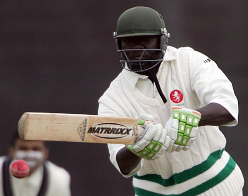 Thomas Odoyo on his way to his second First Class century.