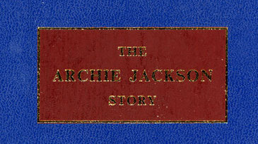 Cover of <I>The Archie Jackson Story</I> by David Frith