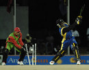 Barbados' Ahmed Proverbs is bowled by Roy Marshall, Barbados v Dominica, 9th match, Stanford 20/20, Antigua, February 5, 2008