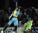 Gregory Taylor stumps Xavier Marshall, Bahamas v Jamaica, Stanford 20/20, 10th match, Antigua, February 6, 2008