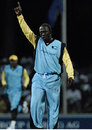 Lee Melville celebrates after dismissing Shawn Findlay, Bahamas v Jamaica, Stanford 20/20, 10th match, Antigua, February 6, 2008