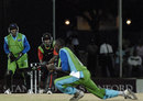 Tonito Willett is snapped up by Brian Stephney, Montserrat v Nevis, Stanford 20/20, 1st round, Antigua, February 8, 2008