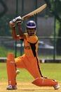 Malaysia's Norwira Zazmie drives the ball square, Kilat Club, Kuala Lumpur, Malaysia, February 13, 2008