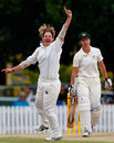 Nicky Shaw dismisses Melissa Bulow, Australia v England, only Test, Bowral, February 15, 2008