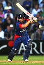 Ian Bell pushes off the back foot, New Zealand v England, 3rd ODI, Auckland, February 15, 2008