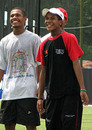 Colin and Charles Amini at a training session, Kuala Lumpur, February 16, 2008