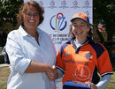 Player of the Match Caroline de Fouw with Betty Timmer, Netherlands v PNG, ICC Women's World Cup Qualifier, Stellenbosch, February 18, 2008
