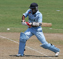 Tanmay Srivastava prepares to cut, India Under-19s v South Africa Under-19s, Group B, Under-19 World Cup, Kuala Lumpur, February 19, 2008