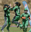 Jill Whelan and Cecelia Joyce celebrate the wicket of Kari Anderson, Ireland v Scotland, ICC Women's World Cup Qualifier, Stellenbosch, February 19, 2008