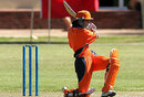 Violet Wattenberg drives through the covers, Bermuda v Netherlands, ICC Women's World Cup Qualifier, Stellenbosch, February 19, 2008
