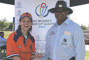 Helmien Rambaldo receives the Man-of-the-Match award for her half-century, Pakistan v Zimbabwe, ICC Women's World Cup Qualifier, Stellenbosch, February 19, 2008
